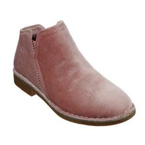 Pink Velvet Skechers Bobs Chelsea, Ankle Boots